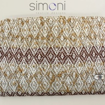 Woven, neutral clutch bag