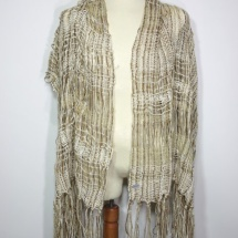 Woven, neutral scarf 1