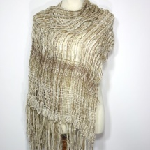Woven neutral scarf 2