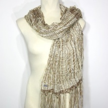 Woven neutral scarf 3