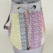 Woven, pastel duffel bag