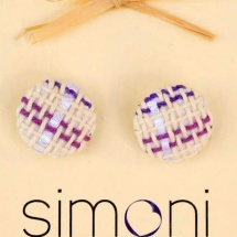 Woven pastel earrings
