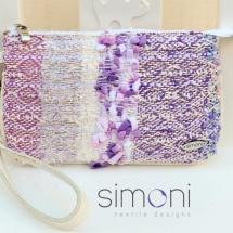 Woven pastel mini purse