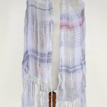Woven pastel scarf
