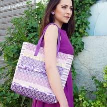 Woven pastel shopper bag 3