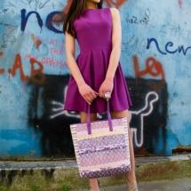 Woven pastel shopper bag 5