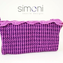 Woven purple purse