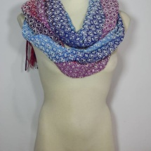 Woven shawl with patterns