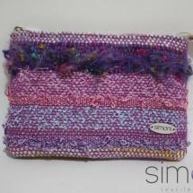 Woven textural mini purse