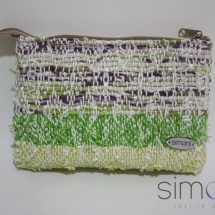 Woven textural mini purse in pastels