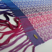 woven shawl with patterns detail