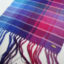 woven shawl with stripes detail