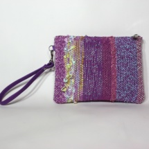 Pastel hand-woven purse
