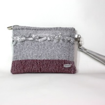 Hand-woven silver purse