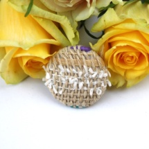 handwoven brooch