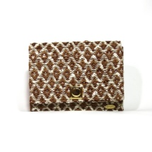 clutch with cotton and linen