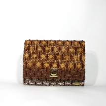 clutch with cotton, raffia and linenclutchc3
