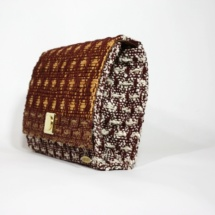 clutch with cotton, raffia and linenclutchc4