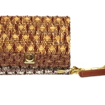 clutch with cotton, raffia and linenclutchc6