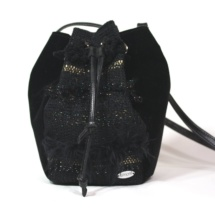 Black and Gold pouch bag front