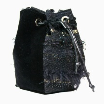 Black and Gold pouch side