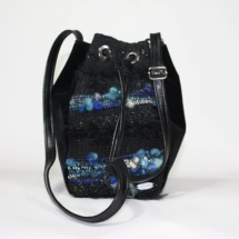 Black and blue pouch front
