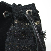 Black and gold pouch detail
