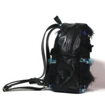 Blue and black backpack side