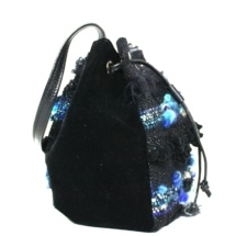 Blue and black pouch side 2