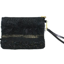 Gold and black purse back