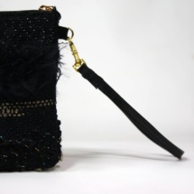 Gold and black purse detail