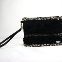 Gold and black purse front