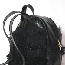 Total black backpack back