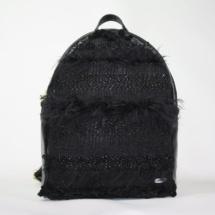 Total black backpack front