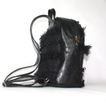 Total black backpack side