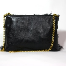 Total black purse with chain back