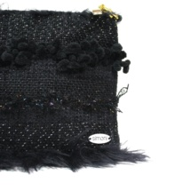 Total black purse with chain detail