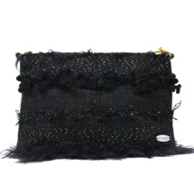 Total black purse with chain front