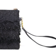Total black purse with textures detail 2
