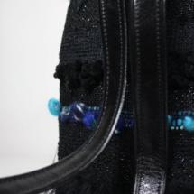 blue and black backpack back