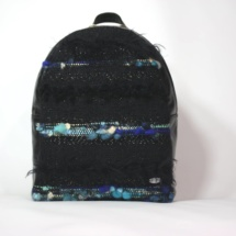 blue and black backpack front